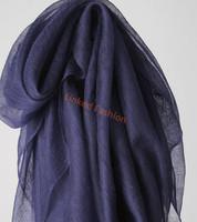 hot selling Extra Size Soft100%PASHMINA/CASHMERE SCARF/WRAP/SHAWL/STOLE Navy Blue