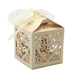 Laser Cut Paper Candy Box/Wedding Candy Box
