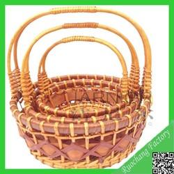 2015 Fashionable wicker fruit basket/ wicker basket with handle wholesale