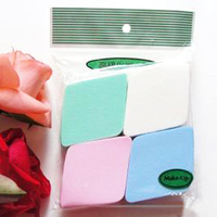 Free Shipping 4pcs/bag Pro Beauty Cosmetic Facial Puff Big Diamond 4 Color Cosmetic Powder Puff Cosmetic Sponge MR0061