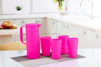 Plastic water Pitcher set with four cups AF-0022