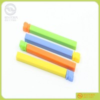 4pcs/set seal stick tie plastic food bag clips customized logo pp food bag sealing clip with logo printing