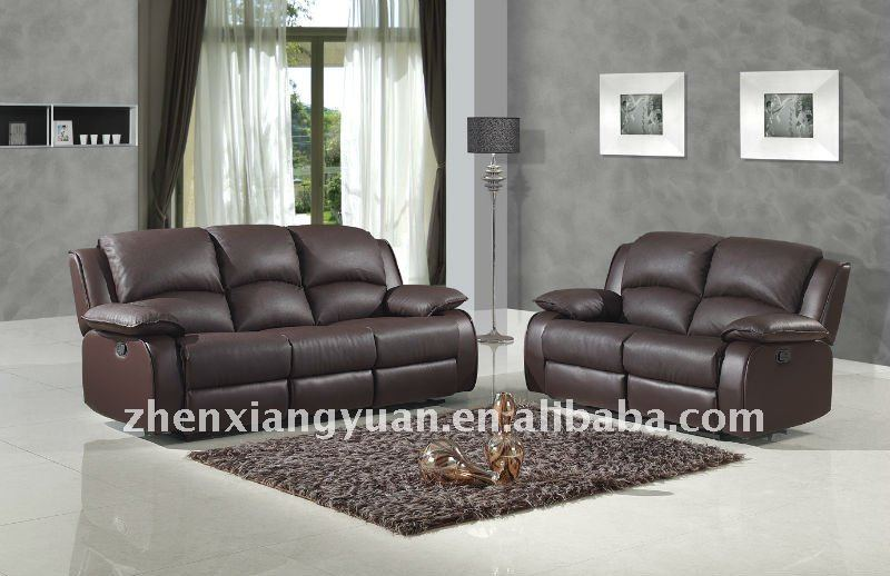 furniture sofa leather reclining sofa set for living room half leather