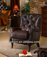 luxury sofa chair with front wheel,genuine leather sofa,high quality chair (BF00-20168)