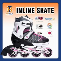 2015 Hot Promotional 4 Wheel Retractable Inline Skates Roller Shoes With Buckle