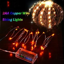 LED string lights 2aa Statistics Warm White Pulses