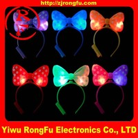 gift items Party supplies led light up bow bowknot headband