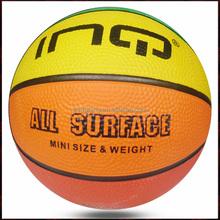 cheap mini size 1 colorful kids playing rubber basketball