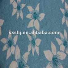 100% Polyester Print Knitted Terry Cloth Fabric