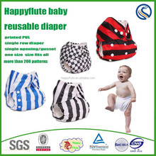 2015,happyflute baby cloth diaper factory, reusable,one size fits all,THX organic 3D nappy, wholesale toddler products