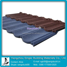 zinc roof tiles light building material sheet metal roofing stone roof tile 7 waves type