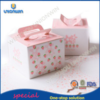 exquisite food board security coated paper eco strawberry cake box for bake shop