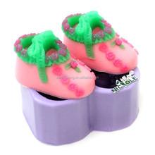 Silikon sabun kalb Silicone rubber lovely 3D shoes soap mould toy soap moulds H0074