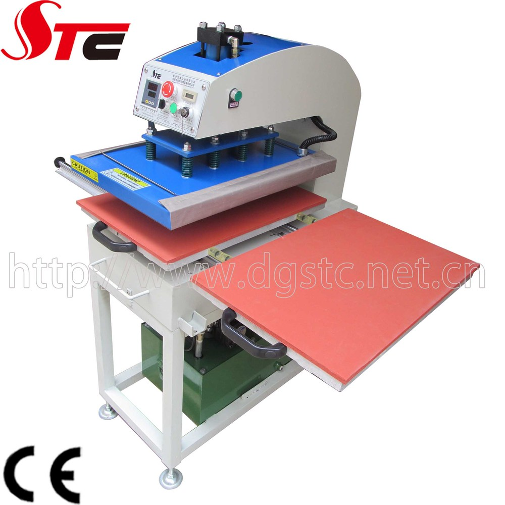 Ce approved 40x50cm oil hydraulic heat press clothing for Heat press shirt labels