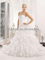 Popular Maternity Layered A-line Strapless Organza Wedding Dress Bridal Gowns XYY-k42-14