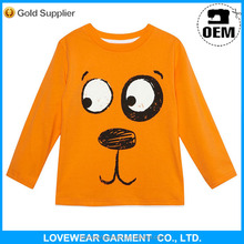 2015 fashion custom Infant/toddler 100% Cotton long Sleeve Raglan baby kids t shirts