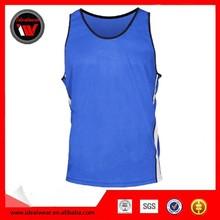 high quality basketball vest blue color