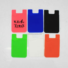 Wholesale hot selling universal silicon phone packet/silicone smart wallet