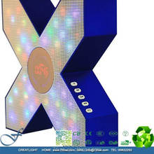 Unique design X bluetooth speaker with flashing led lights, home theatre led speaker bluetooth, MTCR-X1