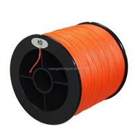 2000m/spool 4 strand PE braided kevlar fishing line 0.10mm orange color