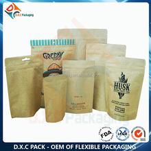 Manufacture Custom Print Brown Craft Paper Organic Food Packaging Bag