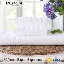 Factory Outlet Store 3 Pieces 70% Bamboo+30% Cotton White Gift Towel Set Packing