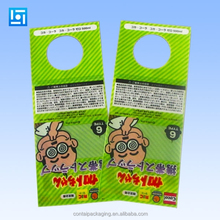 New Style Packing Header Plastic OPP Cellophane Bags With Customize Printed and Euro Hole