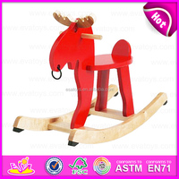 New kids wooden rocking horse,Popular rocking horse wooden decorative,High quality wooden outdoor rocking horse W16D062