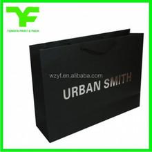 Custom print silver foil stamping luxury shopping paper bag