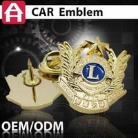top sale brass souvenir car logo emblems
