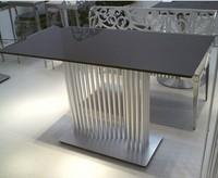 Aluminium Alloy Tempered Glass Top Cheap Bar Table Sets Modern Bar Furniture