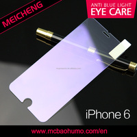 wholesale & retail anti blue light tempered glass screen protector for iphone 6