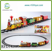 New arrival slot cars with light and music electric christmas classical rail car