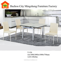 2015 promotion attractive cheap modern glass dining table T-126