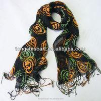 2016 Spring/Summer lady's fashion printed viscose cotton shawl and rayon scarf