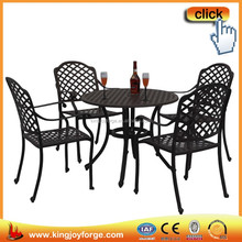 1 + 4 pieces of metal furniture cast aluminum dinning sets