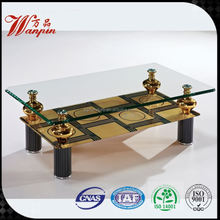 glass and brass coffee tables end tables