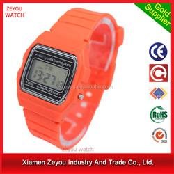 R1076 fashion wristwatch design sport ultra-thin color digital watch , original battery sport ultra-thin color digital watch