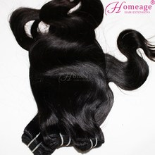 Homeage malaysian body wave hair clip in remy human hair extension