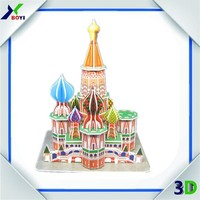 3D puzzle DIY child toys,3D printing paper model,design 3D buildable puzzle cards