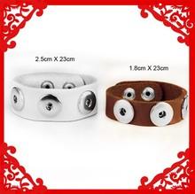 Leather Bracelet Snap Button Jewelry Wrap Bracelet on Wholesale
