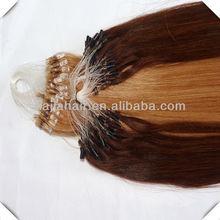 yiwu 100% human extention hair 8-30inc micro ring hiar