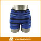 Sem costura homens listra azul dobby padrão cuecas boxers tipo material de nylon cutom itens
