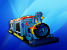 new design inflatable train sculpt obstacle course