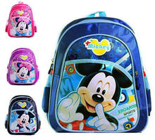 2014 Minnie Mickey Mouse Child Bags Girl Boy For Kids School Book Student Bag Party Children Backpacks Cartoon Christmas Gift