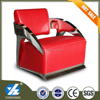 durable single top grain low back leather sofa