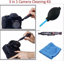 3 in 1 Lens Cleaning Pen Cleaner Dust Blower Cloth Kit For Canon for Nikon DSLR VCR Camera