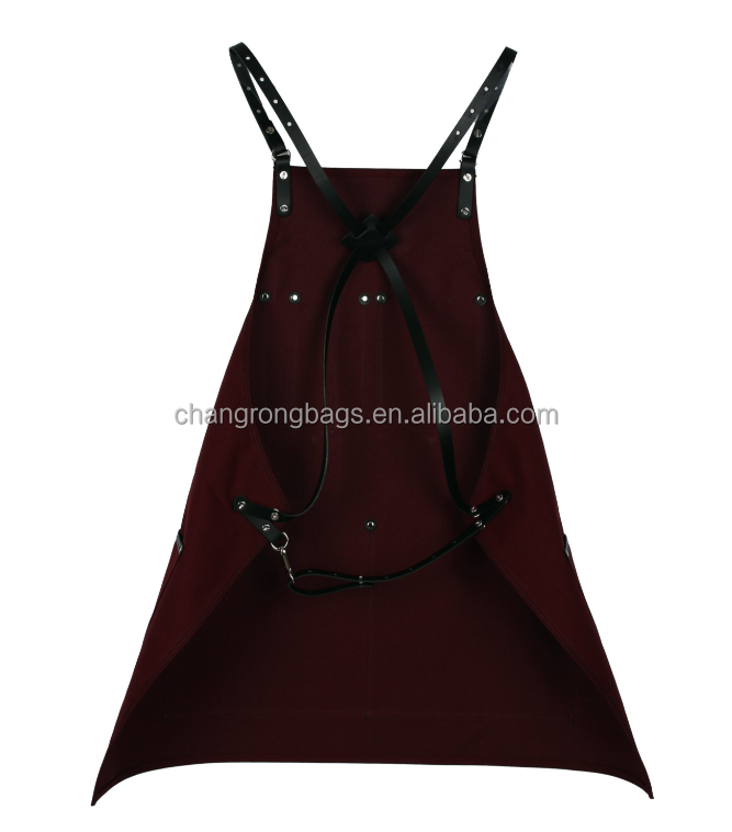 Heavy Duty Aprons : Heavy duty waxed canvas leather apron customized