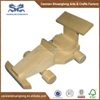 miniature natural wooden toy truck model for kids