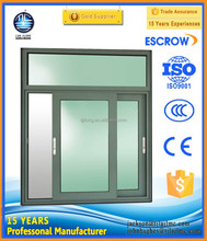 aluminum sliding double glazed tempered glass windows ,office sliding window